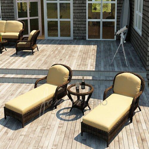 Leona 3 Piece Lounge Seating Group with Cushion