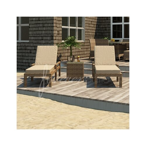 Cypress 3 Piece Lounge Seating Group with Cushion