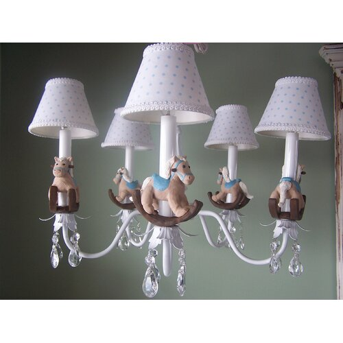 Baby Rocking Horse 5 Light Chandelier