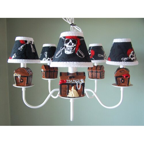 Pirate's Treasure 5 Light Chandelier