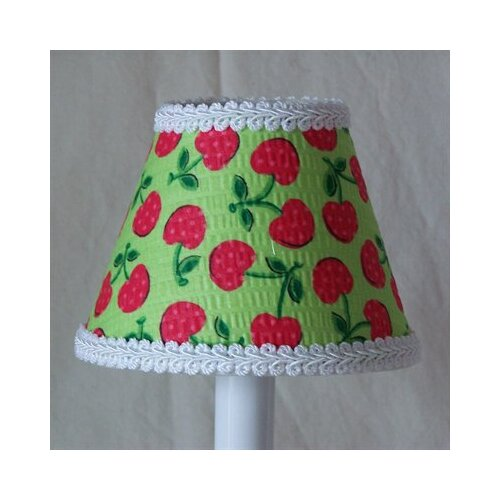 "Silly Bear Lighting 5"" Cherries Fabric Empire Candelabra Shade"