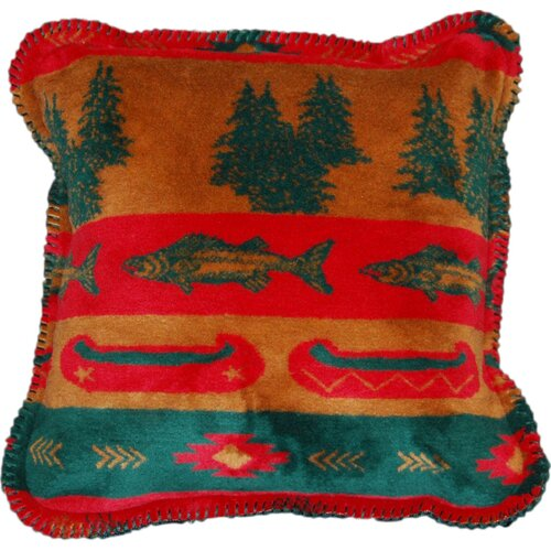 Denali Throws Acrylic / Polyester Fish Lodge Pillow