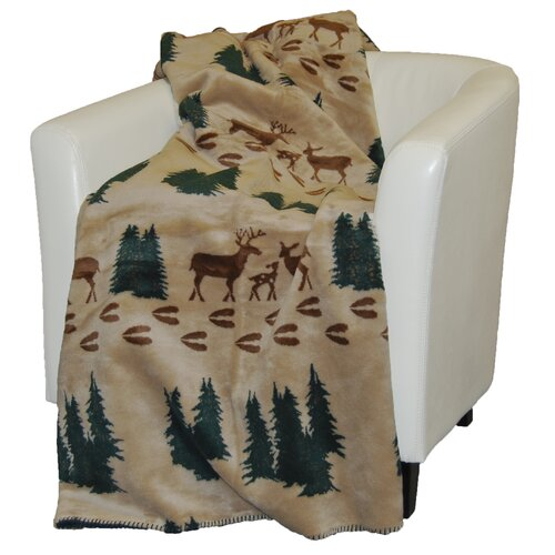 Denali Throws Acrylic Deer Double-Sided Throw