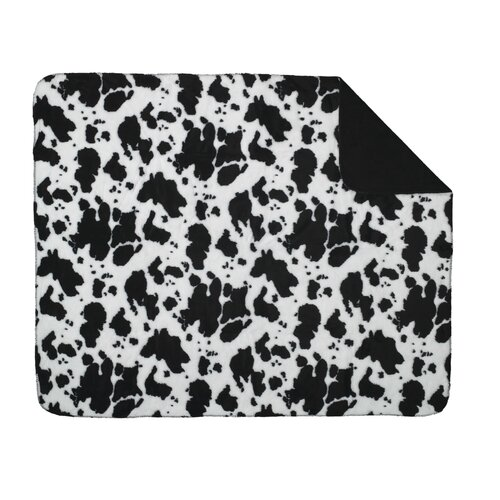 Denali Throws Acrylic Cow Double-Sided Throw