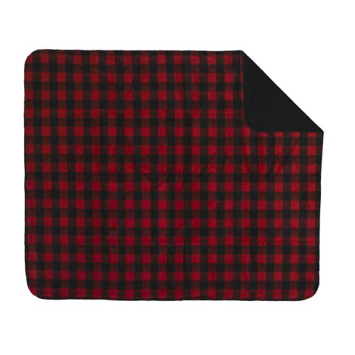 Acrylic Bunk House Plaid Double-Sided Throw