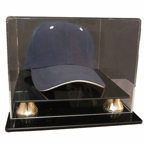 Caseworks International Cap Display with Gold Risers
