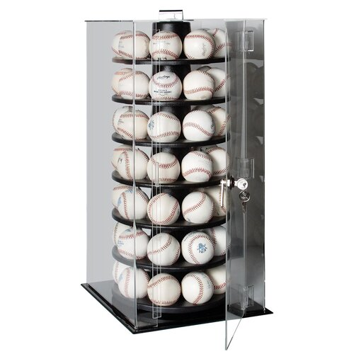 Caseworks International Fifty Six Baseball Rotating Display Case