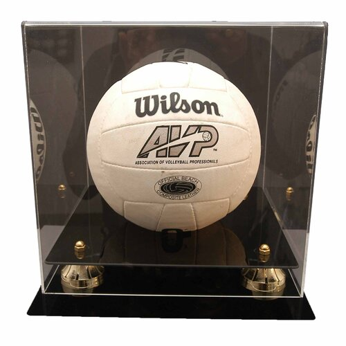 Caseworks International Volleyball Display with Gold Risers