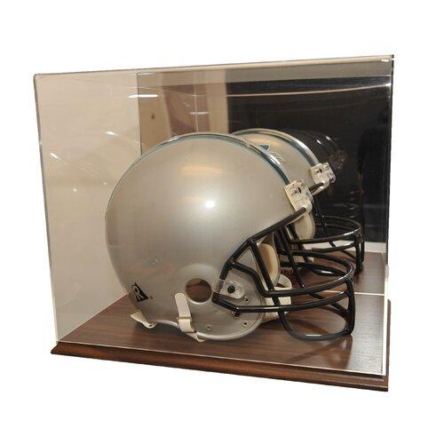 Helmet Display Case in Wood