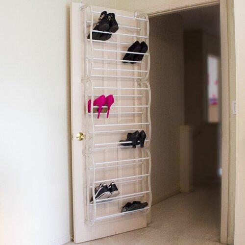 Lavish Home Over Door Shoe Organizer & Reviews | Wayfair