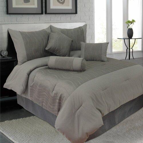 Emily 7 Piece Jacquard Comforter Set