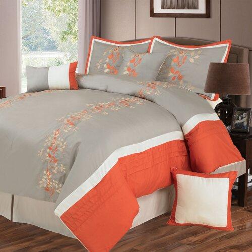 Lavish Home Branches 7 Piece Comforter Set