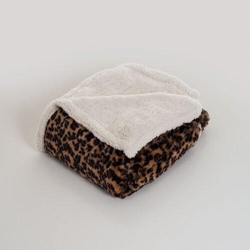 Leopard Polyester Fleece Throw Blanket