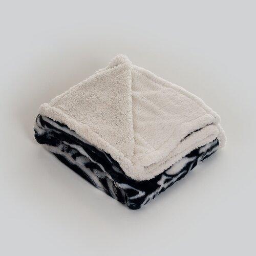 Zebra Polyester Fleece Throw Blanket
