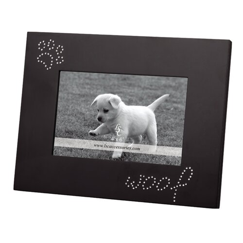LSC Home Woof and Pawprints Picture Frame