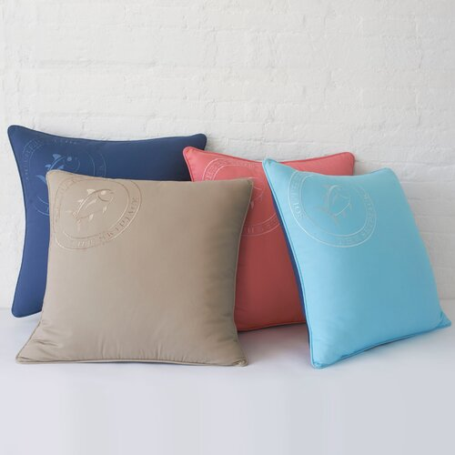 Southern Tide Skipjack Embroidered Cotton Pillow