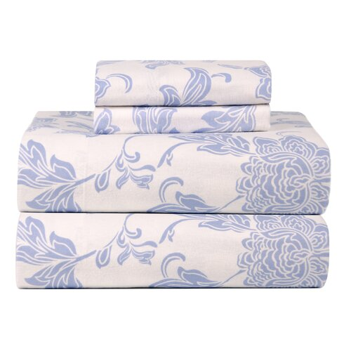 Celeste Home Ultra Soft Flannel Corsage Cotton Sheet Set