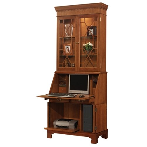 Jamestown computer secretary desk with hutch - Cherry wood computer desk with hutch ...