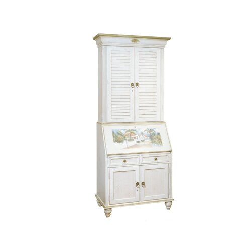 Jasper Cabinet Bahama Breeze Computer Secretary Desk with Hutch