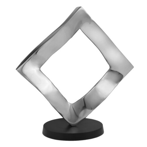 Modern Day Accents Aluminum Rhombus Sculpture