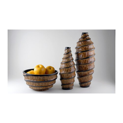 3 Piece Vortex Vase and Bowl Set