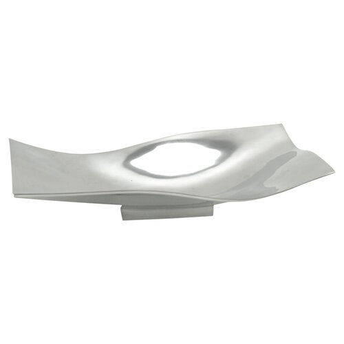 Modern Day Accents Aluminum Rectangular Wavy Tray