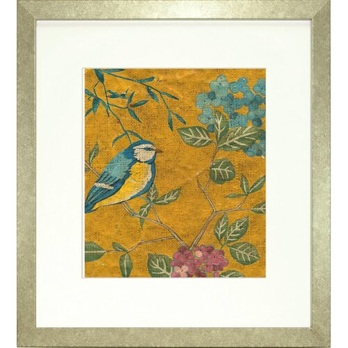 Indigo Avenue Floral Living Golden Chinoiserie II Framed Graphic Art