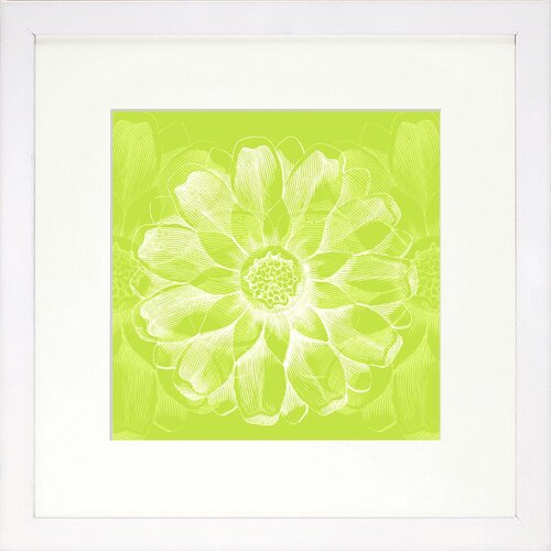 Vibrant Living Lime Rosette Framed Graphic Art