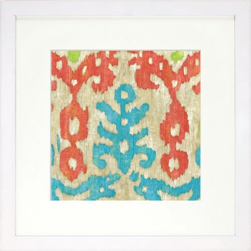 Modern Living Island Ikat 3 Framed Graphic Art