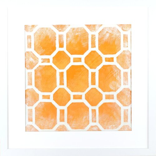 Modern Living Modern Symmetry I Framed Graphic Art in Terracotta and White