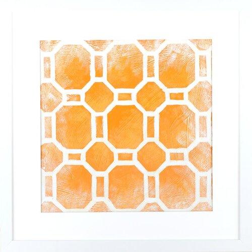 Indigo Avenue Modern Living Modern Symmetry I Framed Graphic Art in Terracotta and White