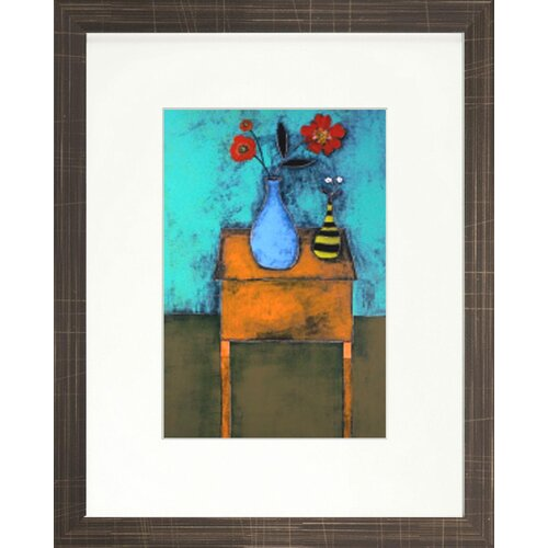 Indigo Avenue Vibrant Living Tangerine Table Framed Painting Print