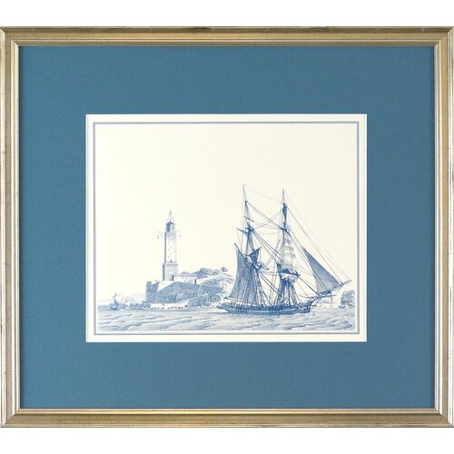 Indigo Avenue Seaside Living Sailing Ships I Framed Graphic Art
