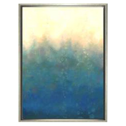 Indigo Avenue Modern Living Sea and Sky II Framed Painting Print in Silver