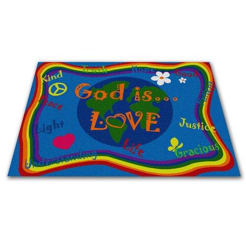 KidCarpet.com God Is Love Kids Rug