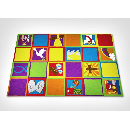 KidCarpet.com Christian Squares Sunday School Kids Rug
