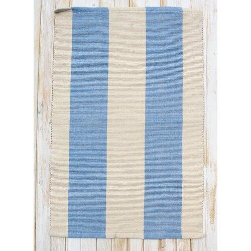 Montauk Blue/Natural Stripe Rug