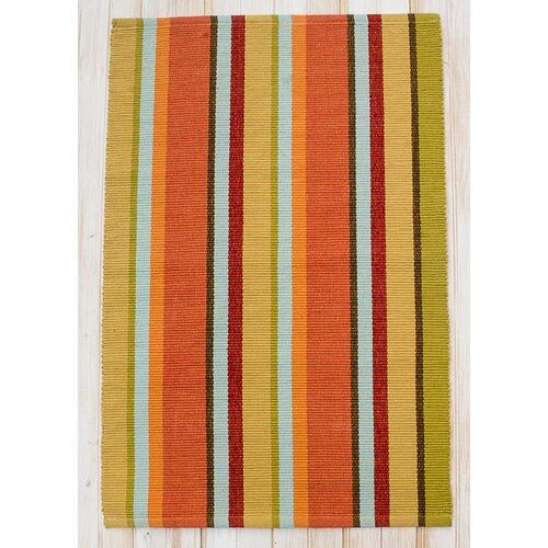 Sunset Fiesta Gold Stripe Rug