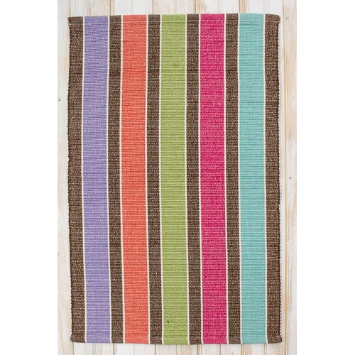 Picket Heathered Multi Fence Rug