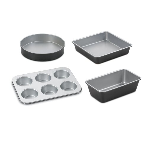 Chef's Classic Stainless Steel 4-Piece Bakeware Set