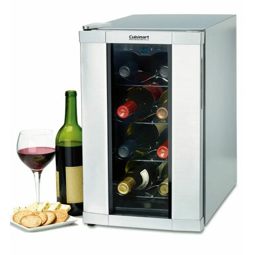 cuisinart 8 bottle single zone thermoelectric wine