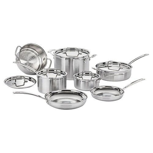 Cuisinart MultiClad Pro 12 Piece Cookware Set in Stainless Steel