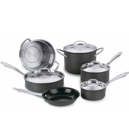 Green Gourmet Hard-Anodized 10-Piece Cookware Set