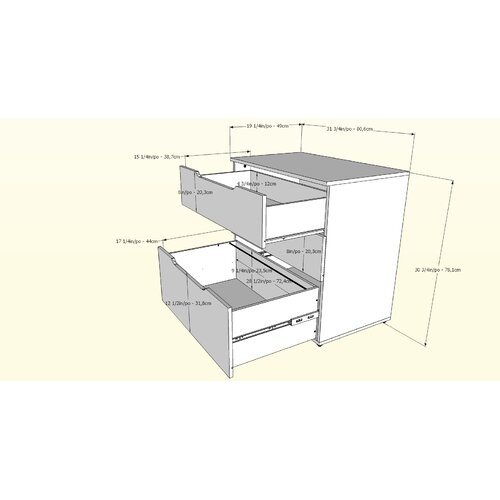 Nexera Next 3-Drawer Filing Cabinet
