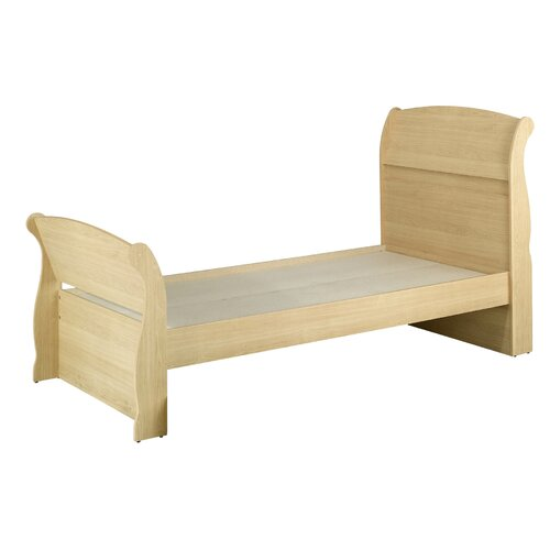 Nexera Alegria Twin Sleigh Bed in Natural Maple