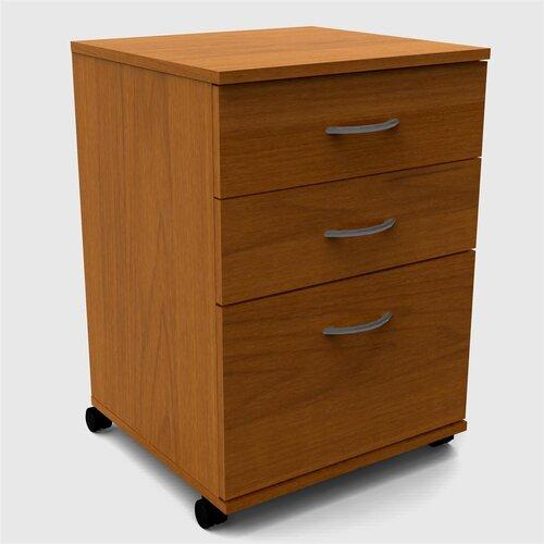 Nexera 3-Drawer Mobile File Cabinet