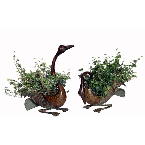 House of Silk Flowers Inc. 2 Piece Artificial Ivy Desk Top Plant in Planter
