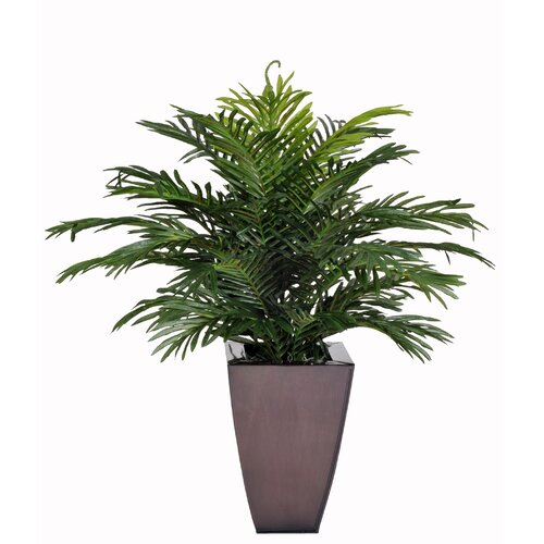 Artificial Parlor Fern Desk Top Plant in Zinc Planter