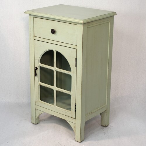 Heather Ann Creations Wooden Cabinet with Glass Insert