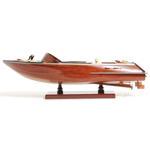 Old Modern Handicrafts Small Runabout Model Boat